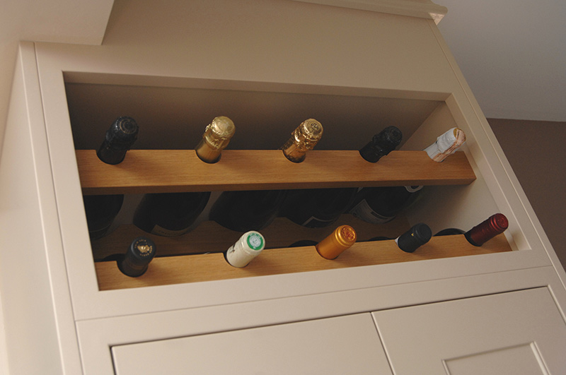 Kitchen Cabinet Base With Wine Rack